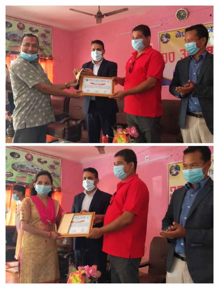 नेपाल पत्रकार महासंघको स्थापना दिबशको अबसरमा भारती र पौडेल पुरस्कृत