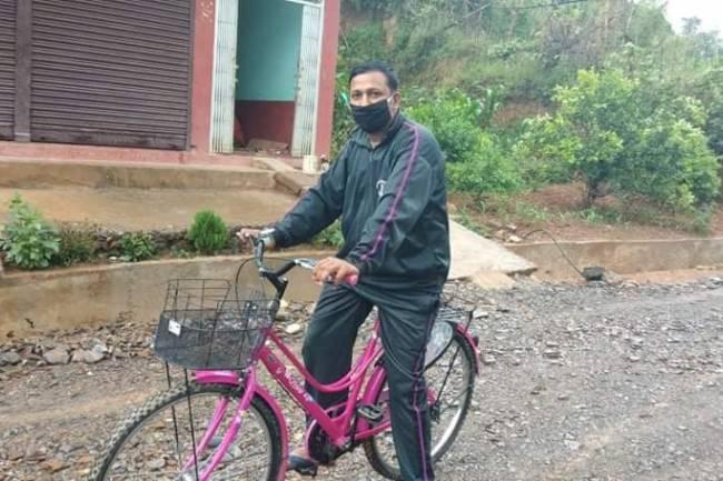 सुरजको साईकल यात्रा : २ दिनमा ३ सय किलोमिटर पार गरेर प्युठान पुगे