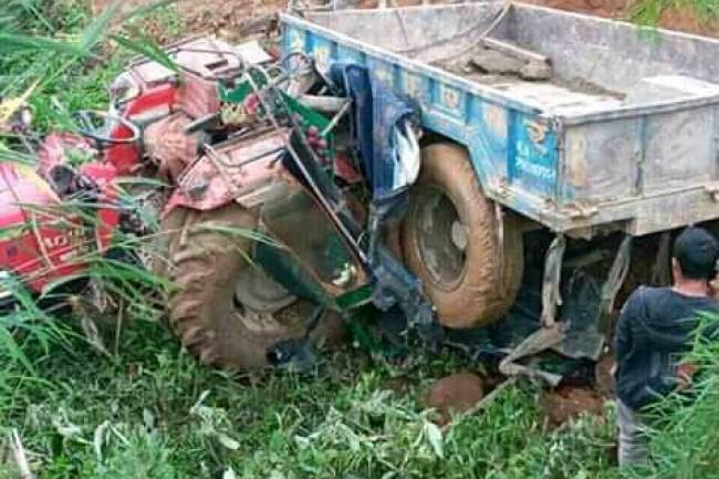 इलाममा ट्र्याक्टर दुर्घटनामा एक जनाको मृत्यु