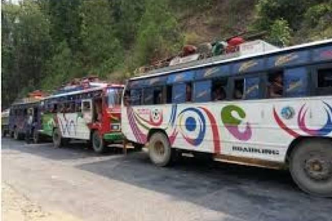 जिल्ला भित्र सार्वजनिक यातायात सञ्चालन गर्न दिइने